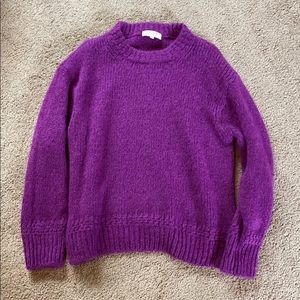 SEZANE Crew Neck Sweater Fuchsia Purple L Mohair
